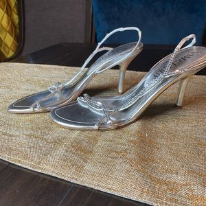 Silver Sam & Libby sequined sandals!